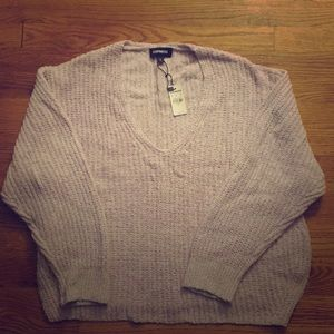 Brand new Express small lilac cable knit sweater